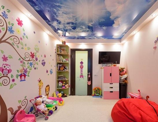 Натяжные потолки для детской 14 кв.м.
