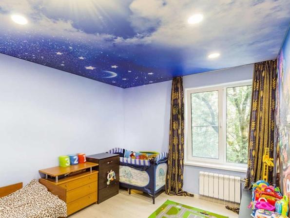 Натяжные потолки для детской 12 кв.м.