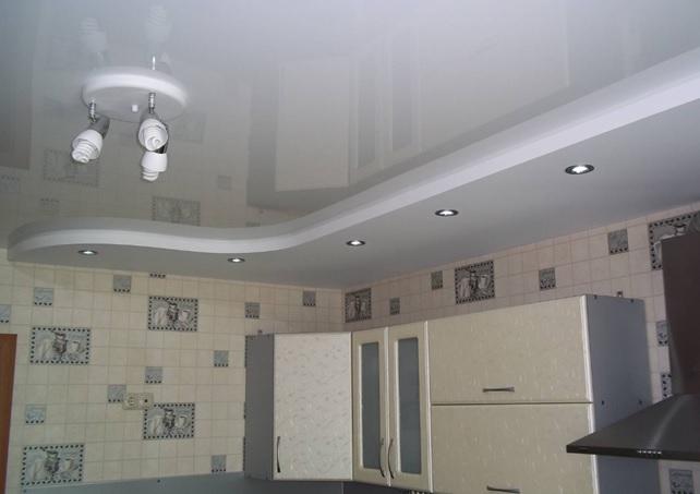 Натяжные потолки для кухни 8 кв.м.