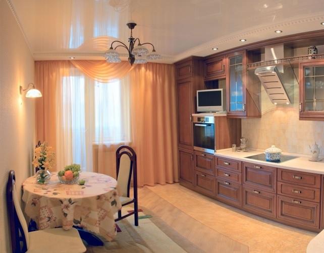 Натяжные потолки для кухни 13 кв.м.