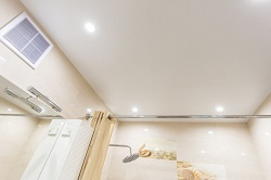Натяжные потолки для ванной 5 кв.м. матовый